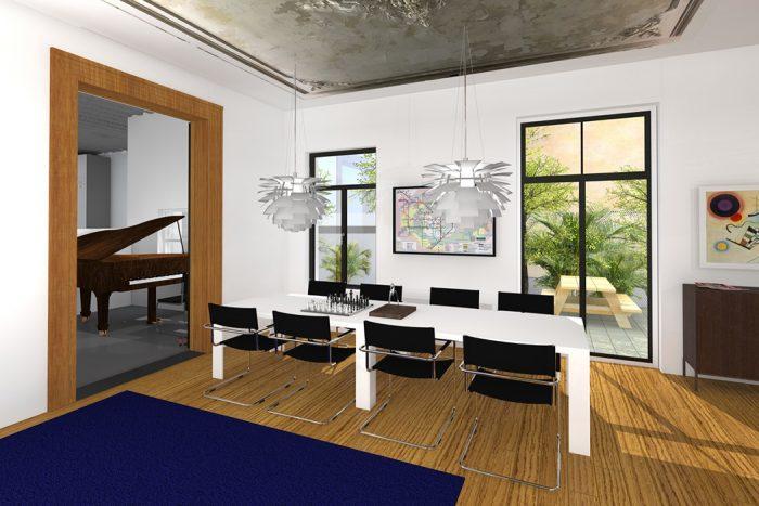 3D impressie woonhuis particulier